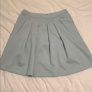 Sky blue midi skirt